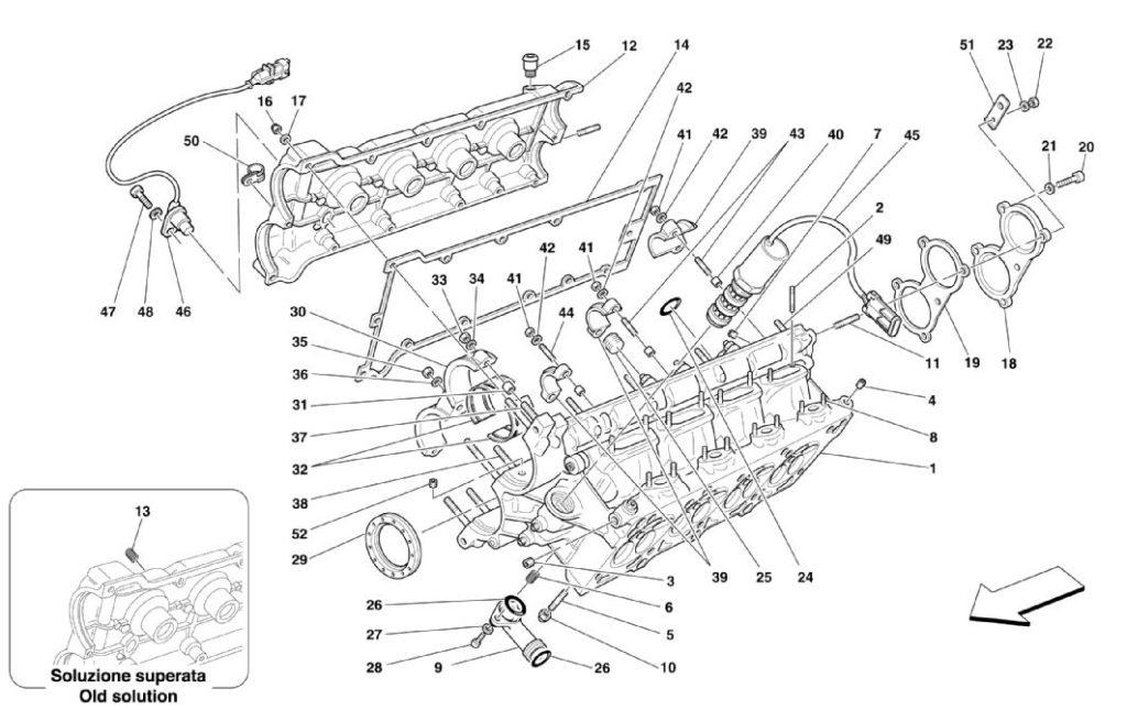 ferrair-360-modena-right-cylinder-head-parts-diagram