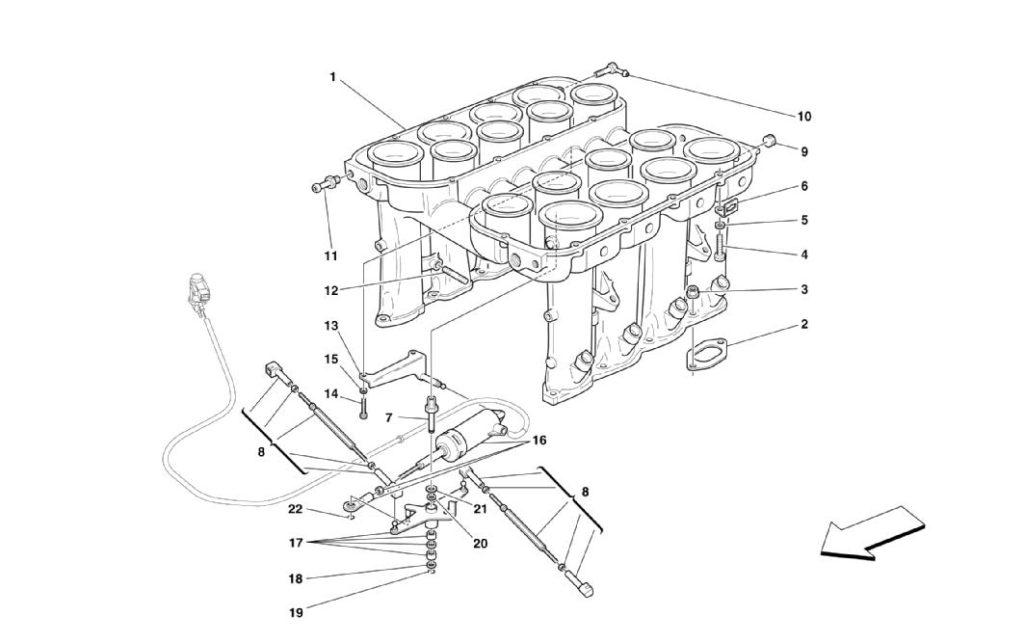 ferrari-360-modena-air-intake-manifold-parts-diagram