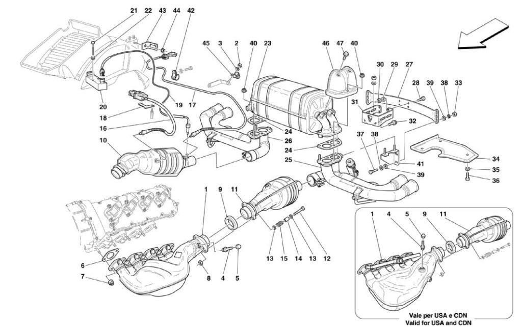 ferrari-360-modena-raing-exhaust-parts-diagram