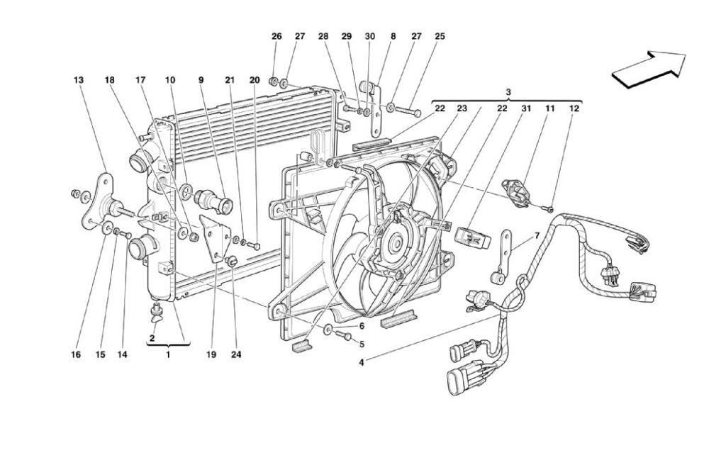 ferrari-360-modena-cooling-system-radiator-parts-diagram