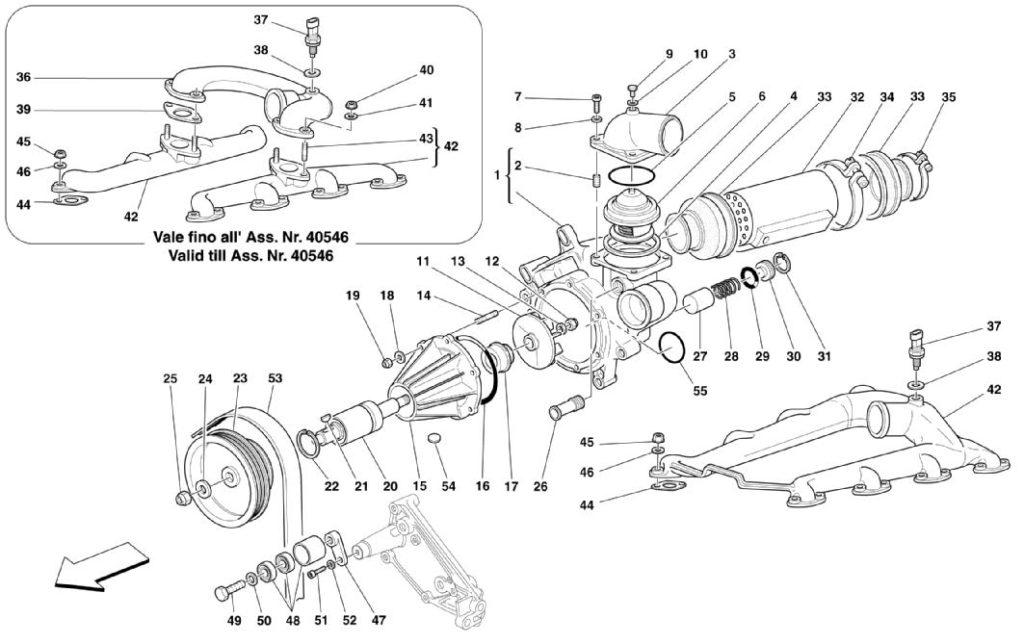 ferrari-360-modena-water-pump-heat-exchanger-parts-diagram
