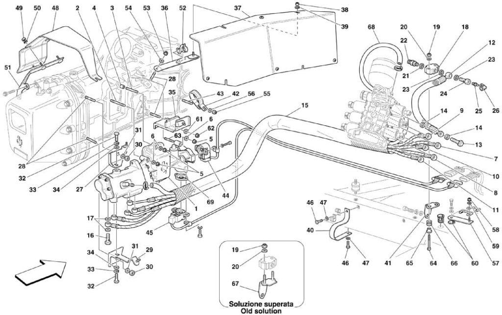 ferari-360-f1-clutch-hydraulic-control-parts-diagram
