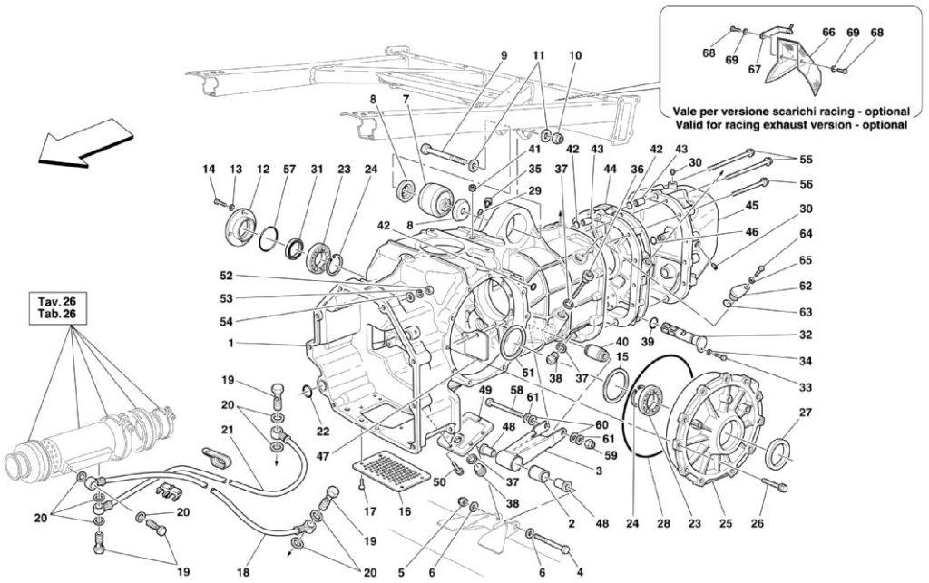 ferrari-360-modena-gearbox-cover-parts-diagram