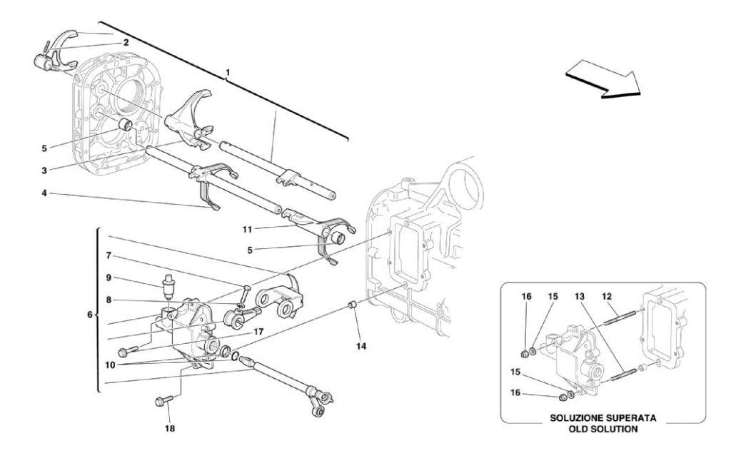 ferrari-360-modena-inside-gearbox-control-parts-diagram