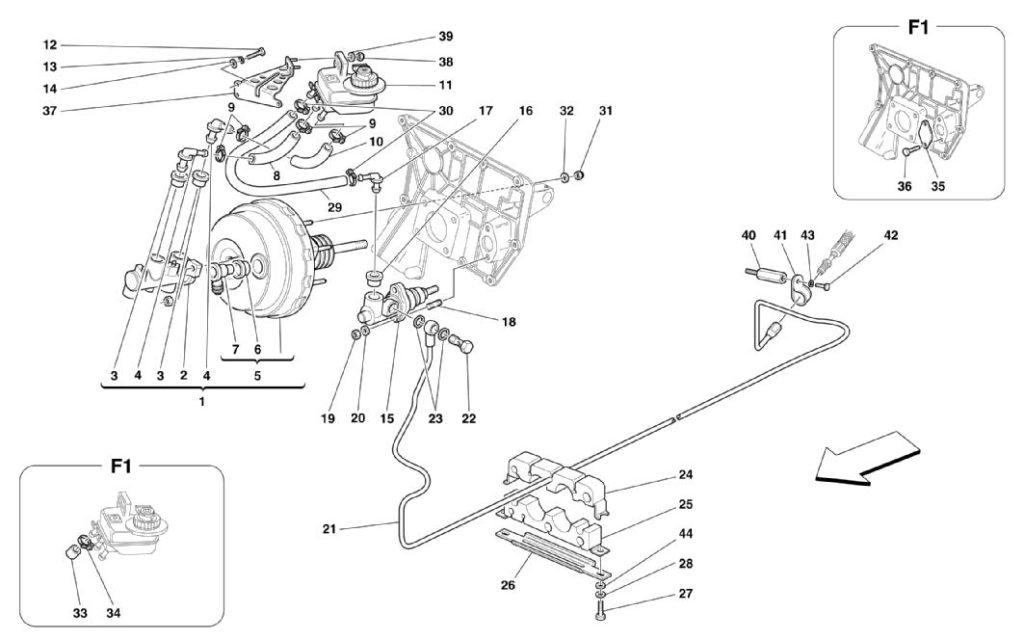 ferrari-360-modena-rhd-brakes-and-clutch-hydraulic-controls-parts-diagram