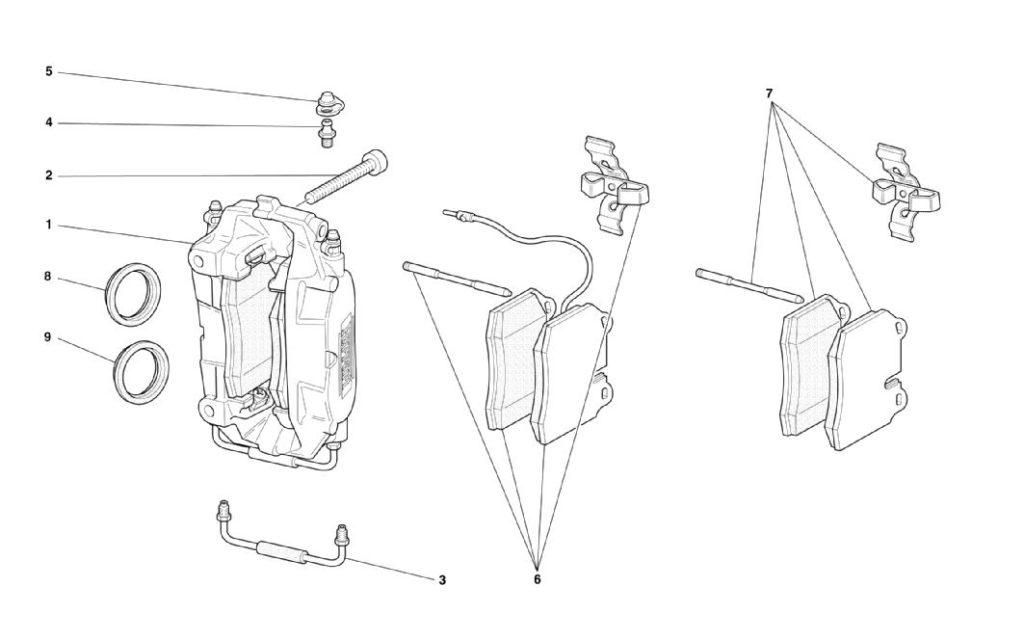 ferrari-360-modena-front-and-rear-calipers-parts-diagram