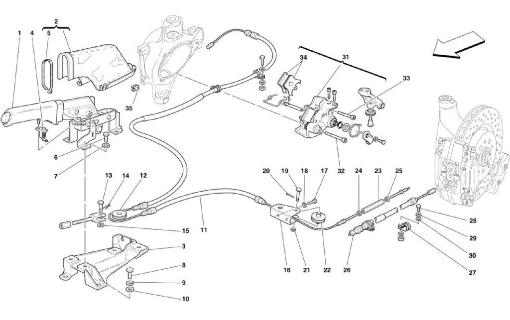 ferrari-360-modena-hand-brake-parts-diagram