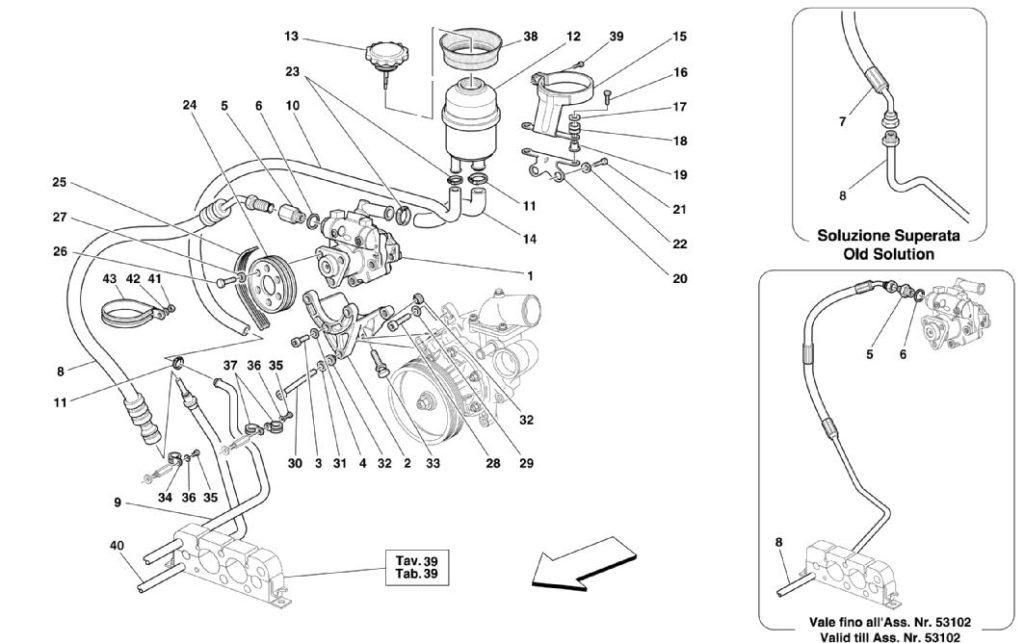 ferrari-360-modena-hydraulic-steering-pump-parts-diagram