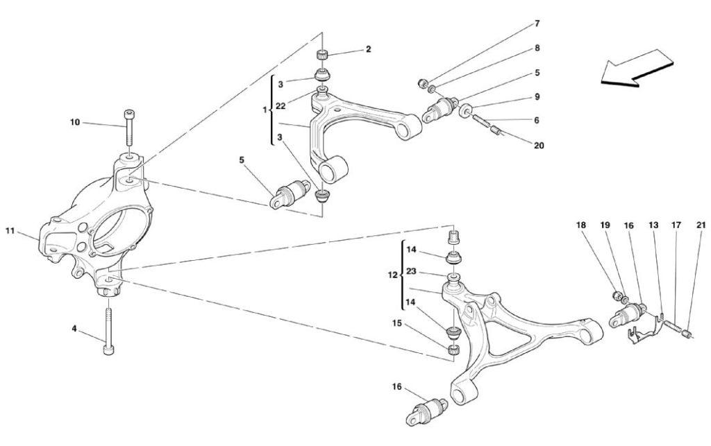 ferrari-360-front-wishbone-suspension-parts-diagram