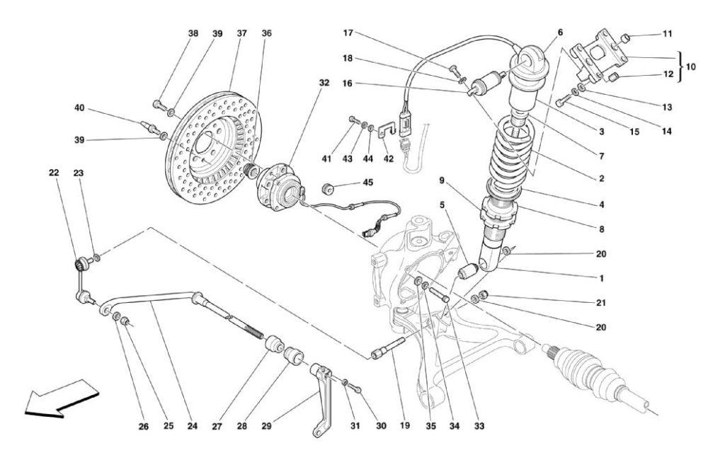 ferrari-360-modena-rear-shock-absorber-and-brakes-parts-diagrams