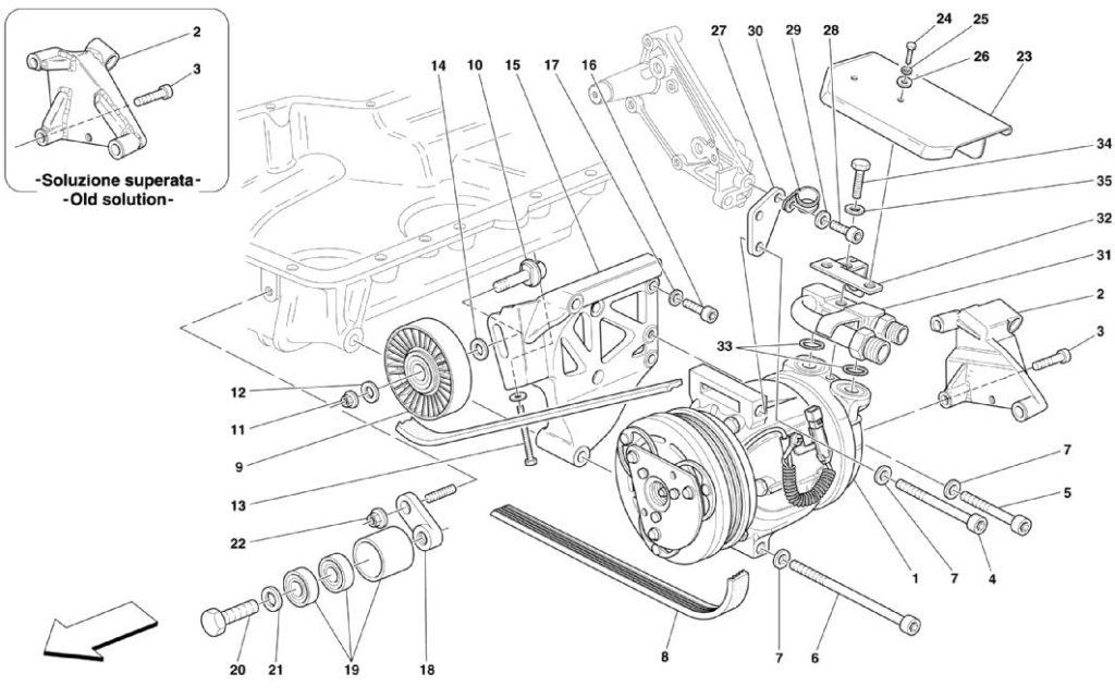 ferrari-360-modena-air-conditioning-compressor-parts-diagram