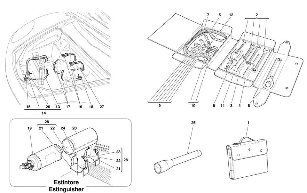 ferrari-360-modena-tools-and-accessories-parts-diagram