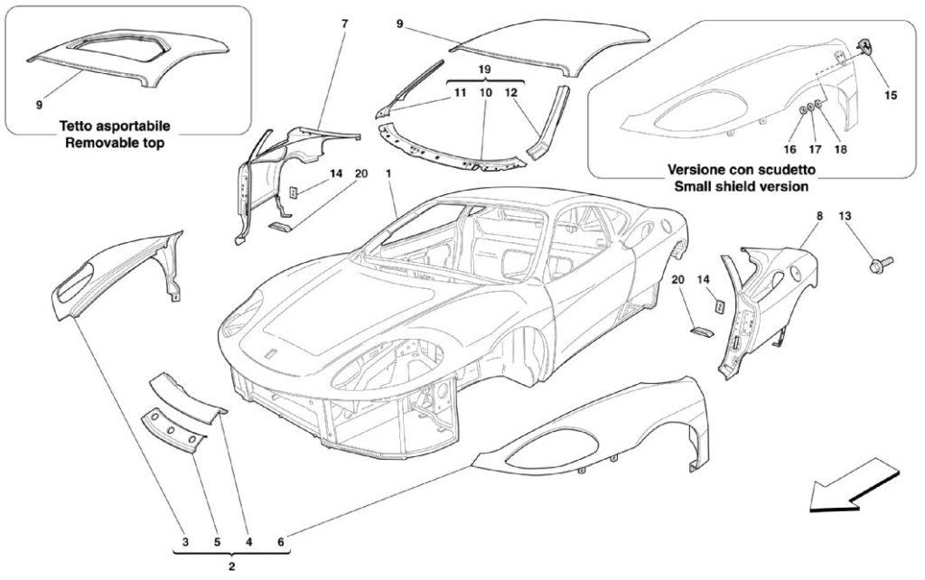 ferrari-360-modena-outer-body-trim-parts-diagram
