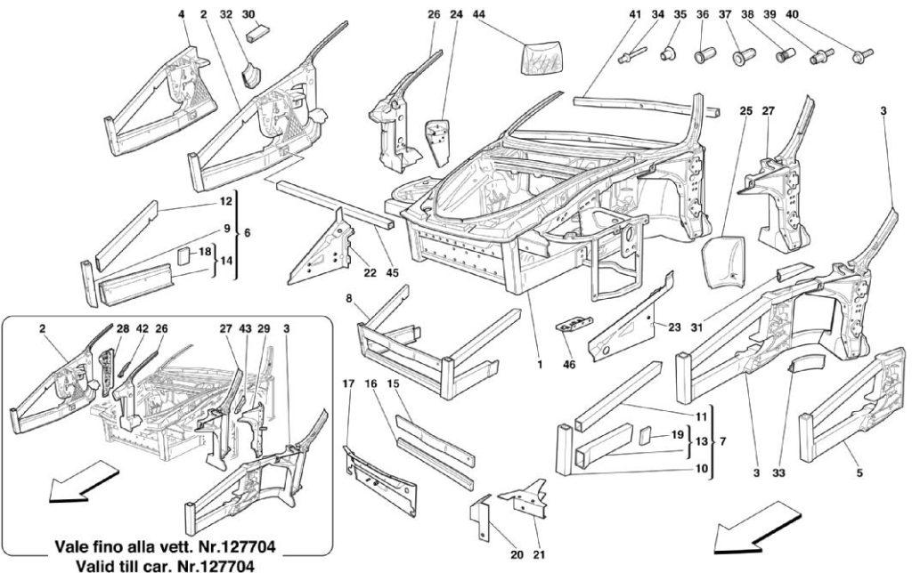 ferrari-360-modena-frame-front-elements-parts-diagram