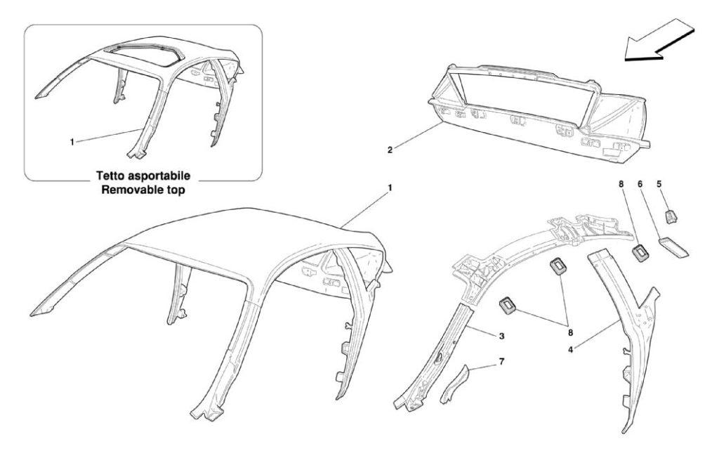ferrari-360-modena-roof-structure-parts-diagram