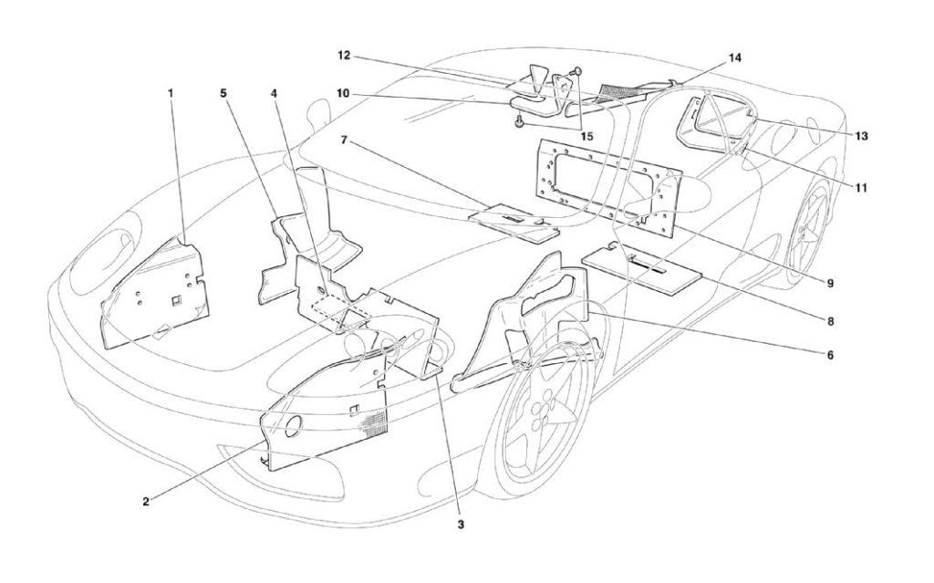 ferrari-360-modena-insulation-parts-diagram