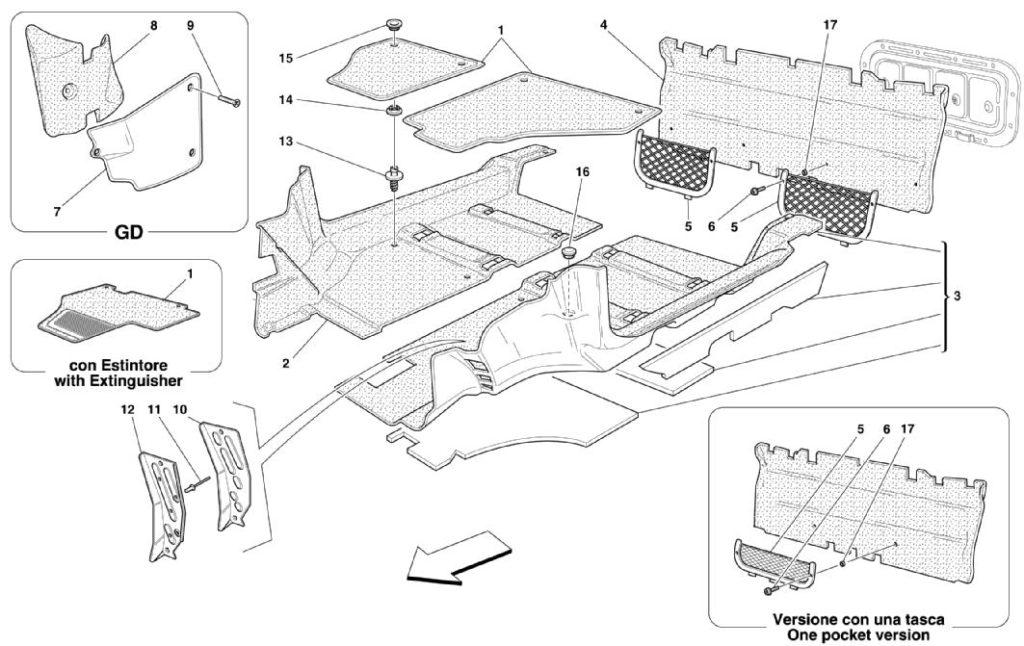 ferrari-360-modena-interior-carpet-parts-diagram
