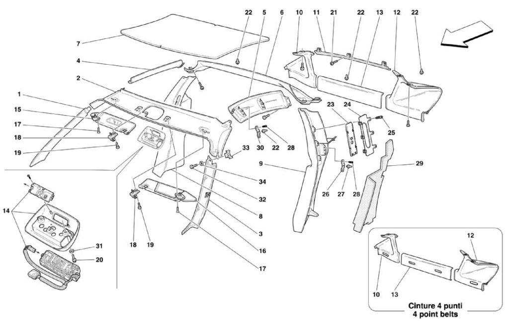 ferrari-360-modena-roof-upholstery-parts-diagram