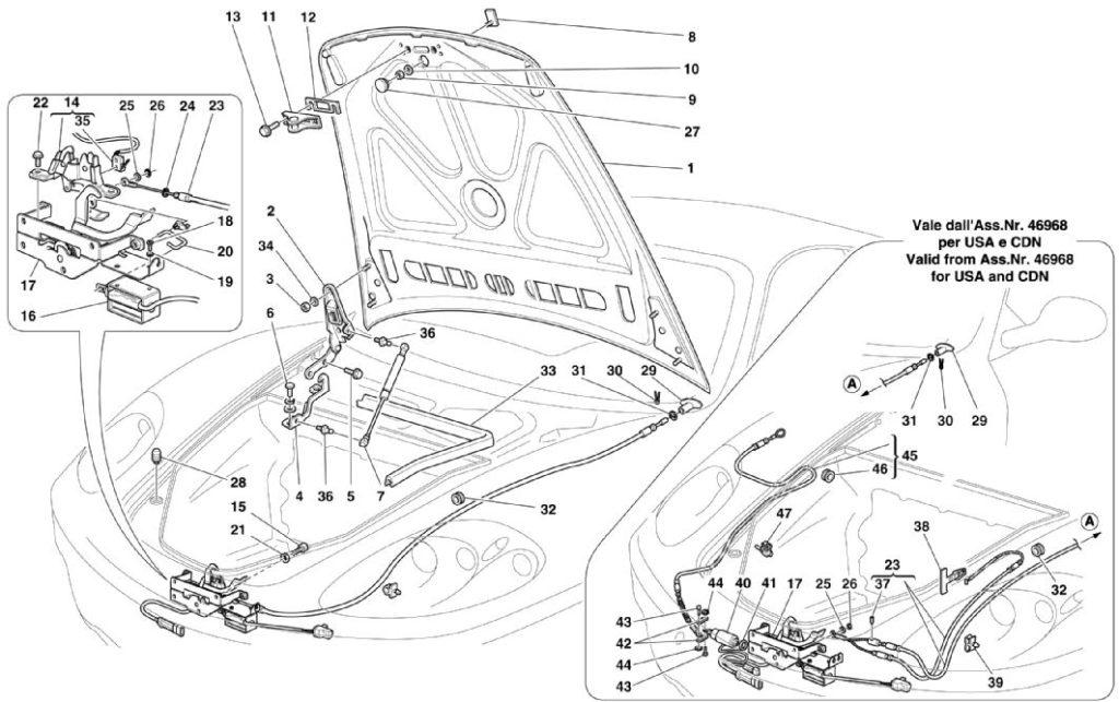 ferrari-360-modena-front-hood-and-latch-parts-diagram