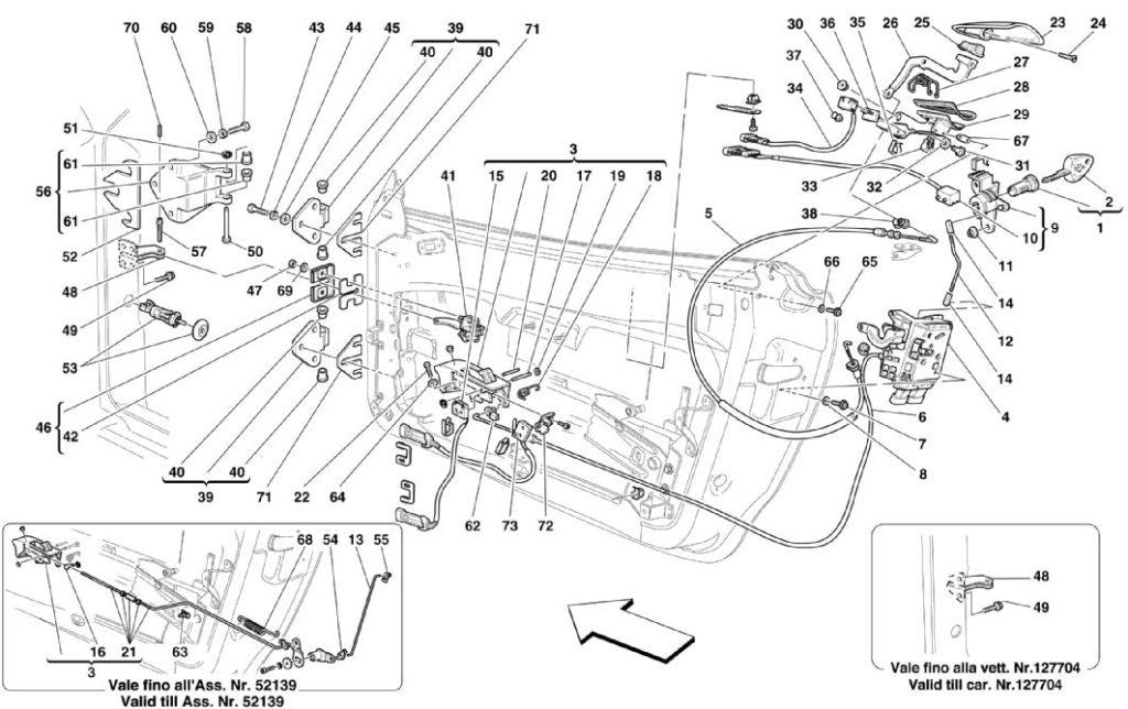 ferrari-360-modena-door-controls-and-hinges-parts-diagram