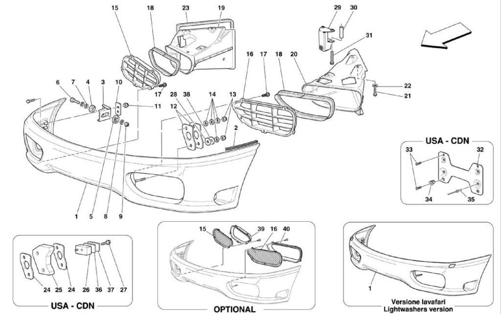 ferrari-360-modena-front-bumper-parts-diagram
