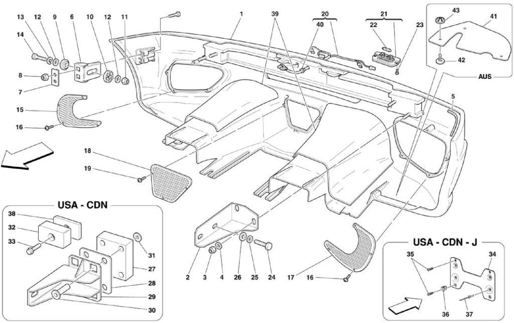 ferrari-360-modena-rear-bumper-parts-diagram