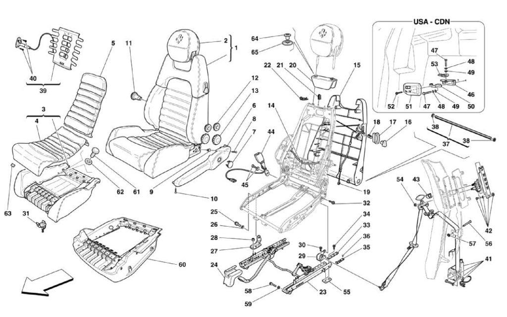 ferrari-360-modena-seats-and-seat-belts-parts-diagram