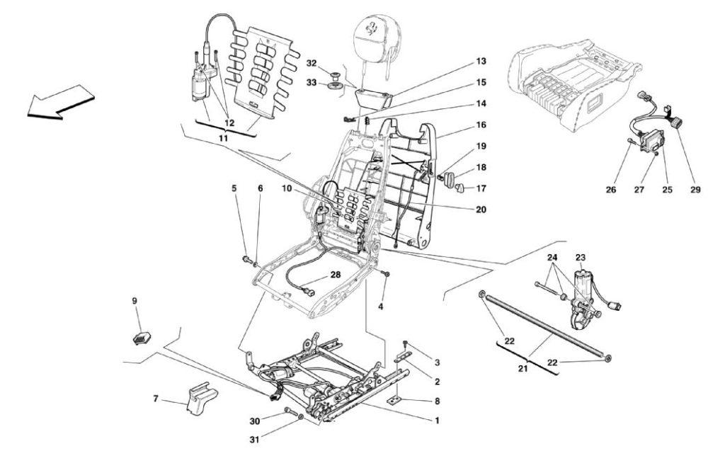ferrari-360-modena-electric-seat-guide-parts-diagram