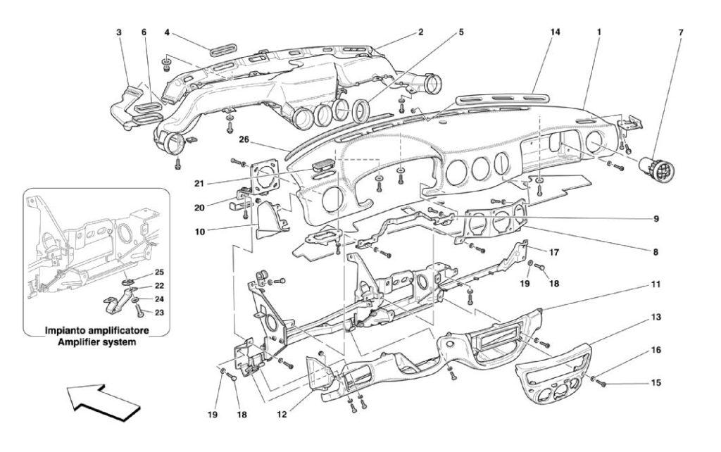 Ferrari-360-modena-dashboard-parts-diagram