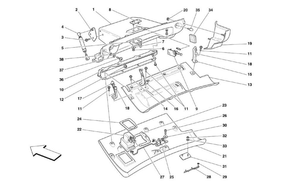 ferrari-360-modena-glove-box-parts-diagram