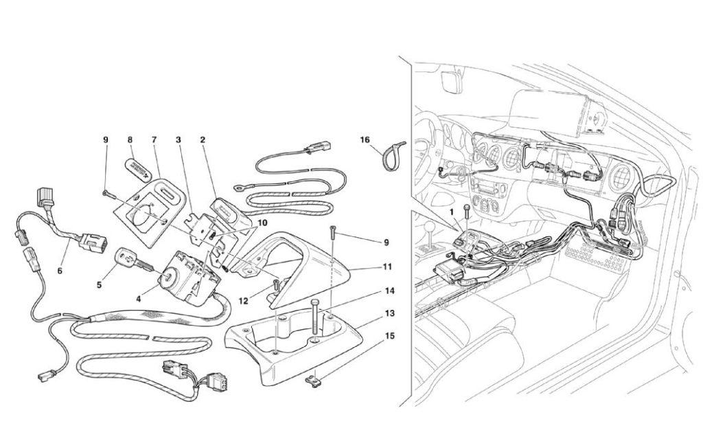 ferrari-360-modena-passenger-air-bag-exclusion-kit-parts-diagram