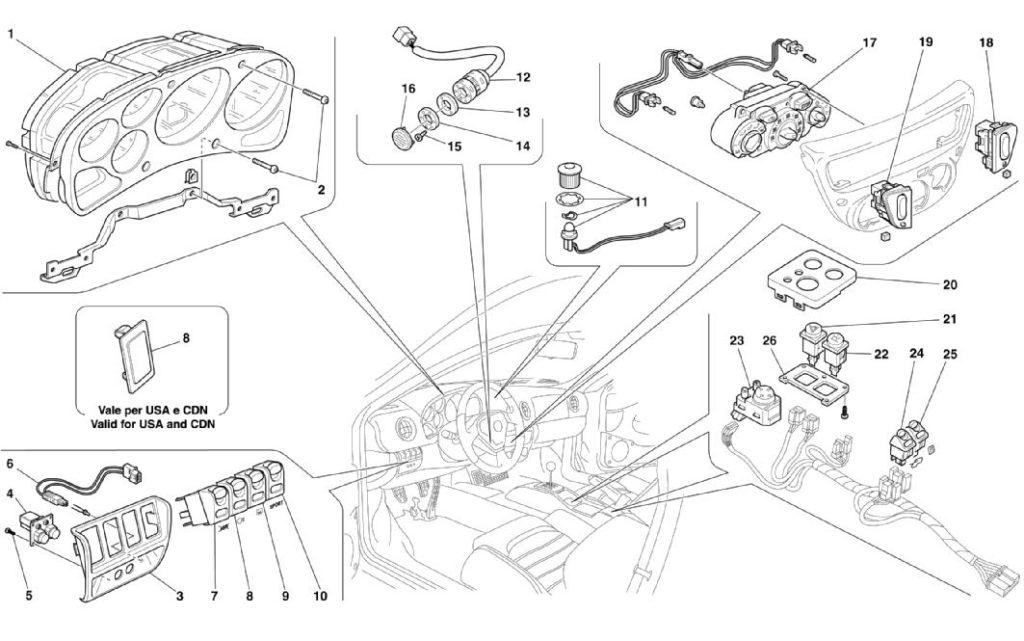 ferrari-360-modena-dashboard-instruments-parts-diagram