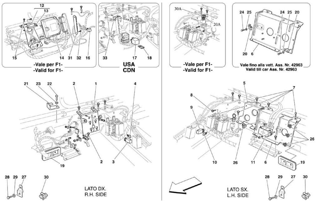 ferrari-360-modena-rear-passenger-controls-parts-diagram