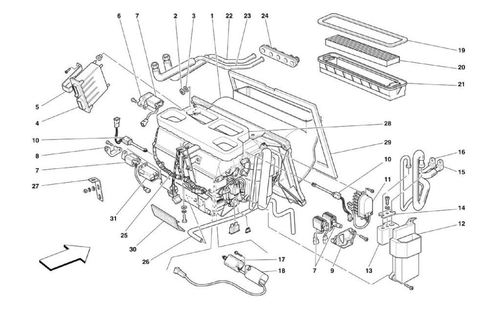 ferrari-360-modena-evaporator-unit-parts-diagram