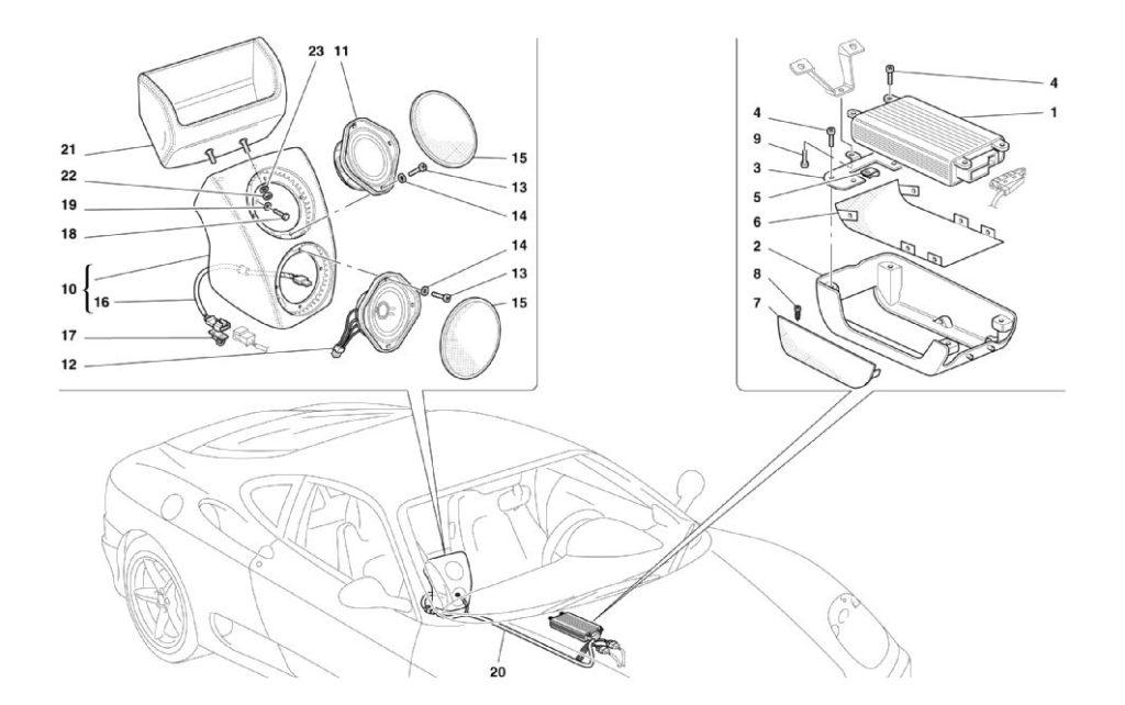 ferrari-360-modena-stereo-amplifier-parts-diagram